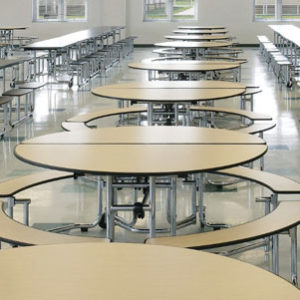 School Cafeteria Tables